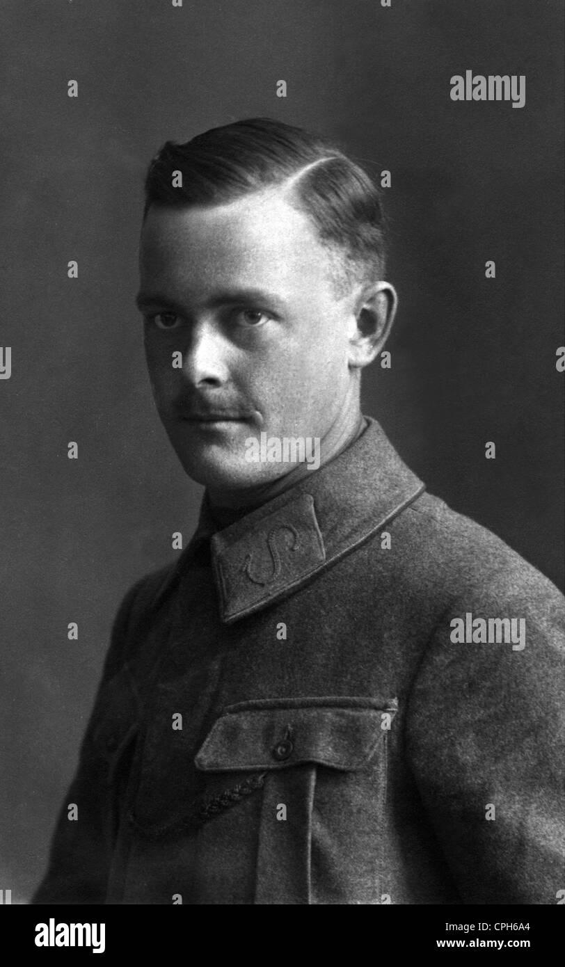 Militär Deutschland Porträt Eines Soldaten Anfang Des 20