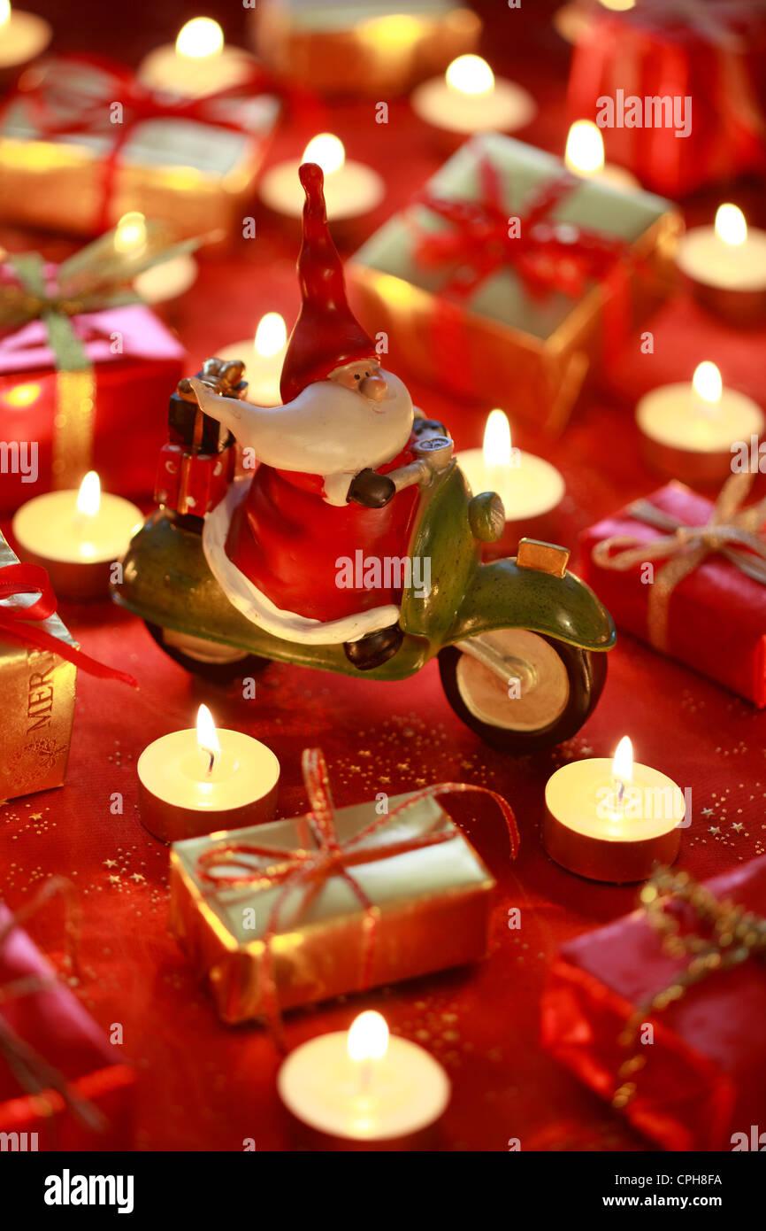 1 Bart Schnurrbart Weihnachtsmann Santa Claus Dekoration Figur Paket Red A Prsent Geschenke Geschenk Grtel Karikatur Kerze Ca