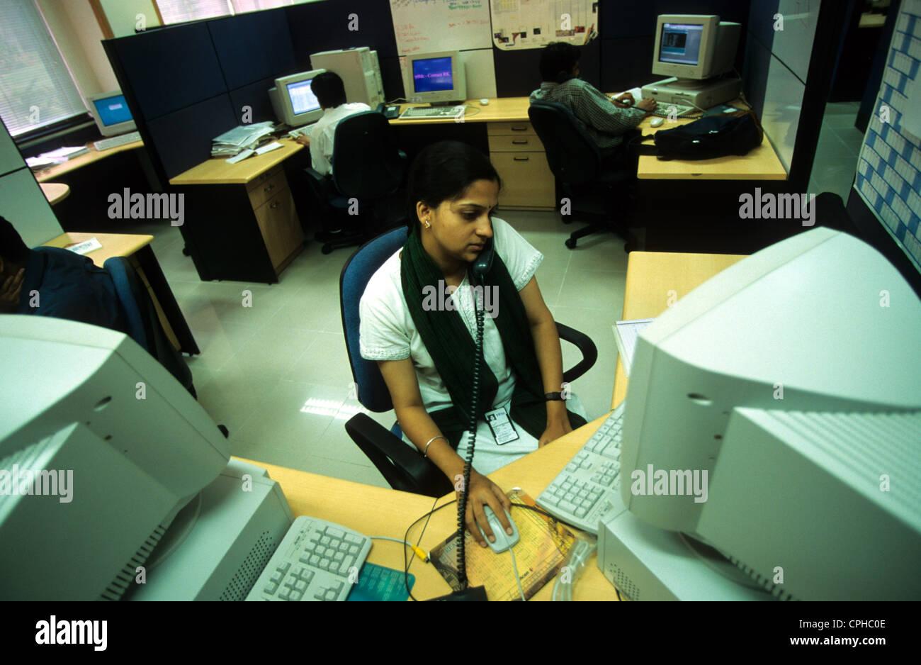 Indien Bangalore, Campus der Infosys in der Elektronik Stadt, Infosys ist ein wichtiger Software Entwickler und Stockfoto