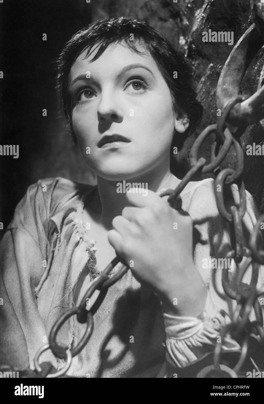 """Angela Salloker in """"Joan die Magd"""", 1935 Stockbild"""