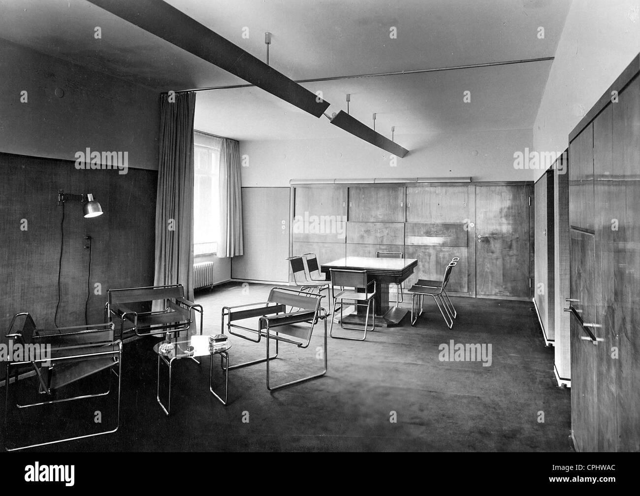 inneneinrichtung im bauhaus stil 1926 stockfoto bild 48336244 alamy. Black Bedroom Furniture Sets. Home Design Ideas