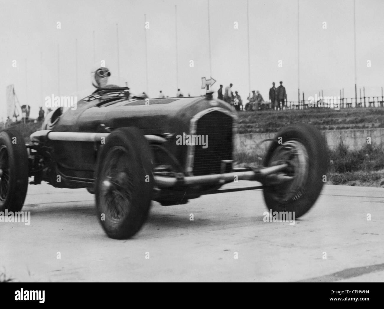 Tazio Nuvolari in seinem Alfa Romeo, 1935 Stockbild