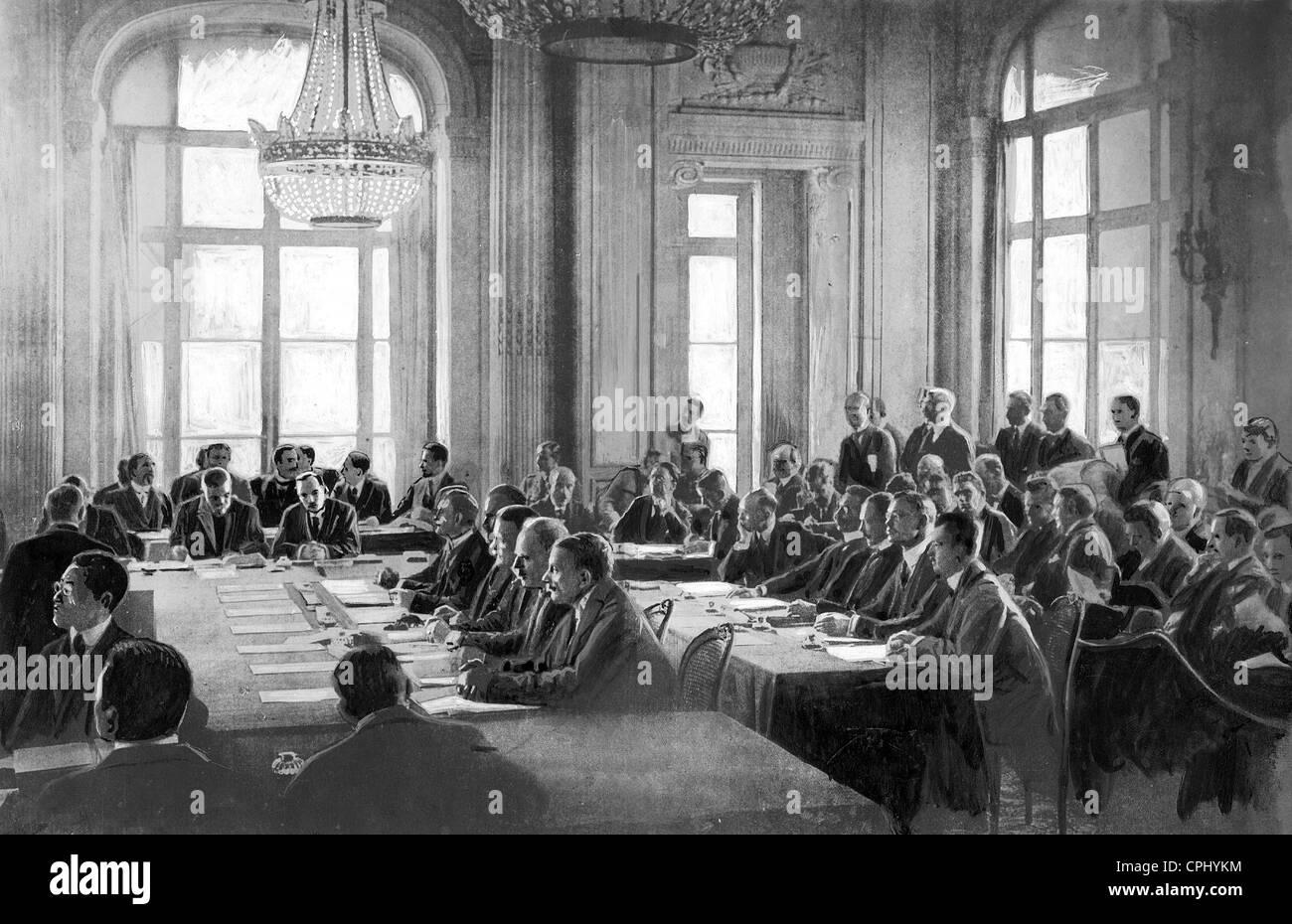 Der Vertrag Von Versailles Wird Die Deutsche Delegation 1919