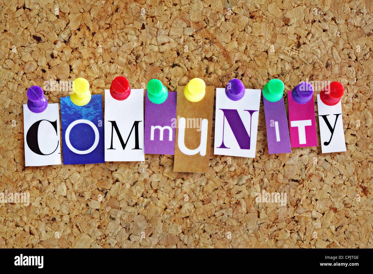 Gemeinschaft Stockbild