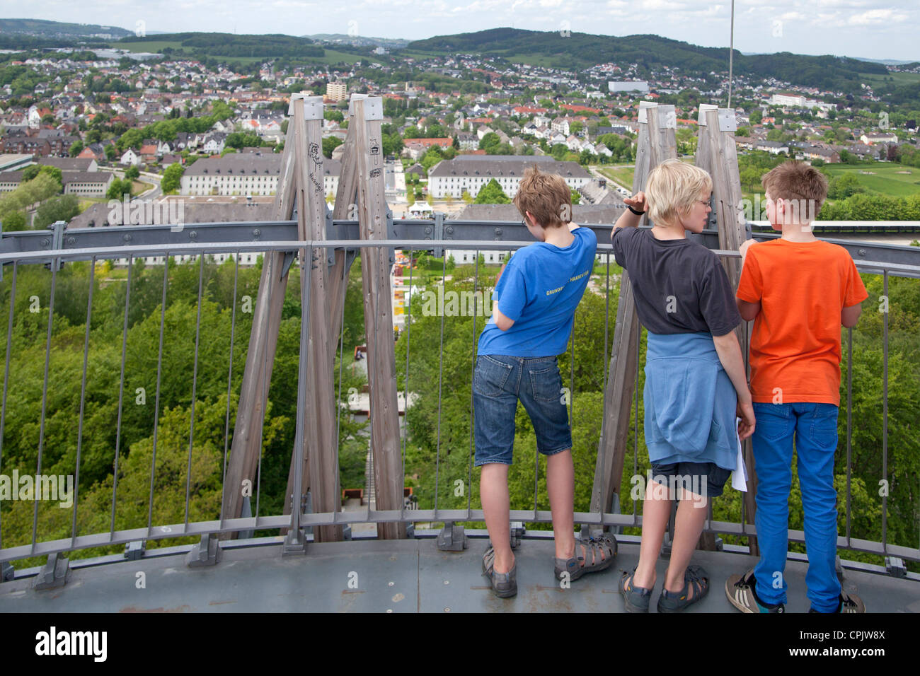 Panoramablick ber hemer aus jueberg tower sauerland park for Wildparks in der nahe