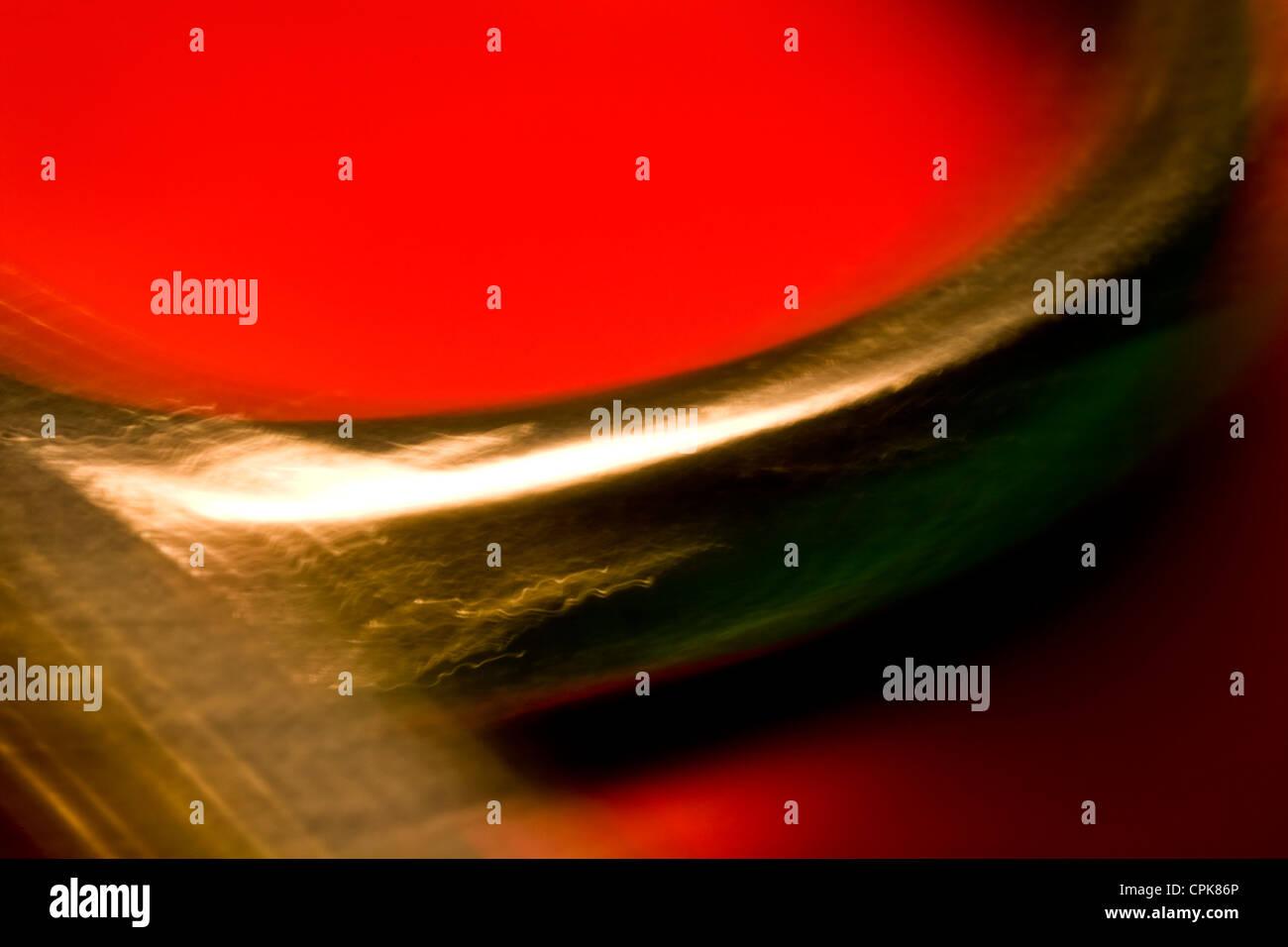 Extreme Nahaufnahme Schere. Abstraktes Bild mit einer hohen Vergrößerung-Makro-Objektiv aufgenommen. Stockfoto