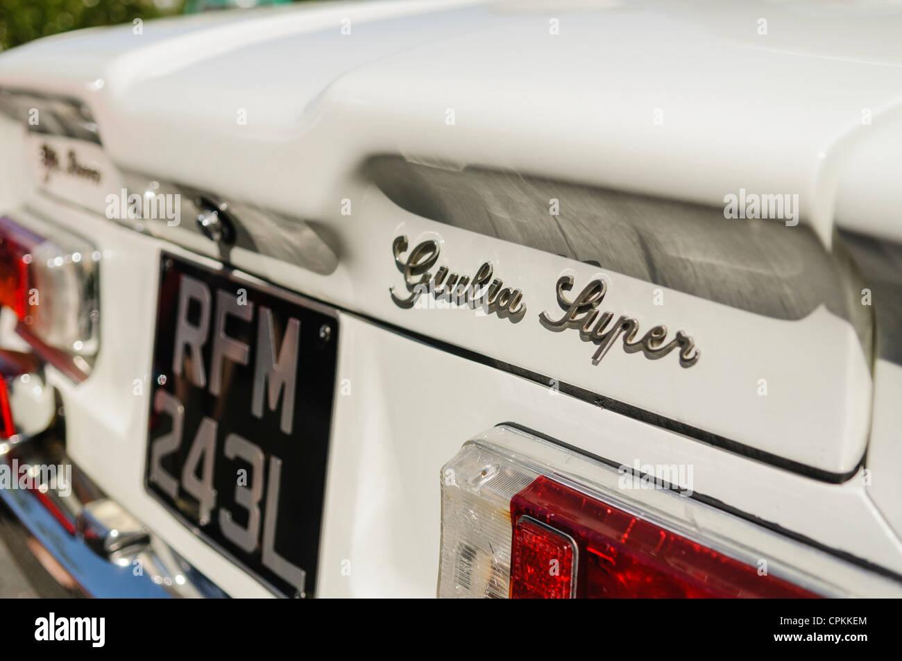 Alfa Romeo Giulia Super Stockbild