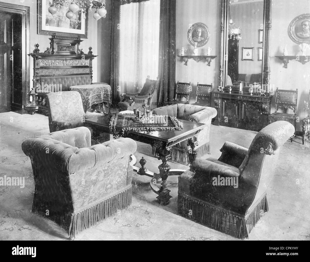 Wohnzimmer Im Palais Des Reichsprasidenten In Berlin 1905 Stockfoto