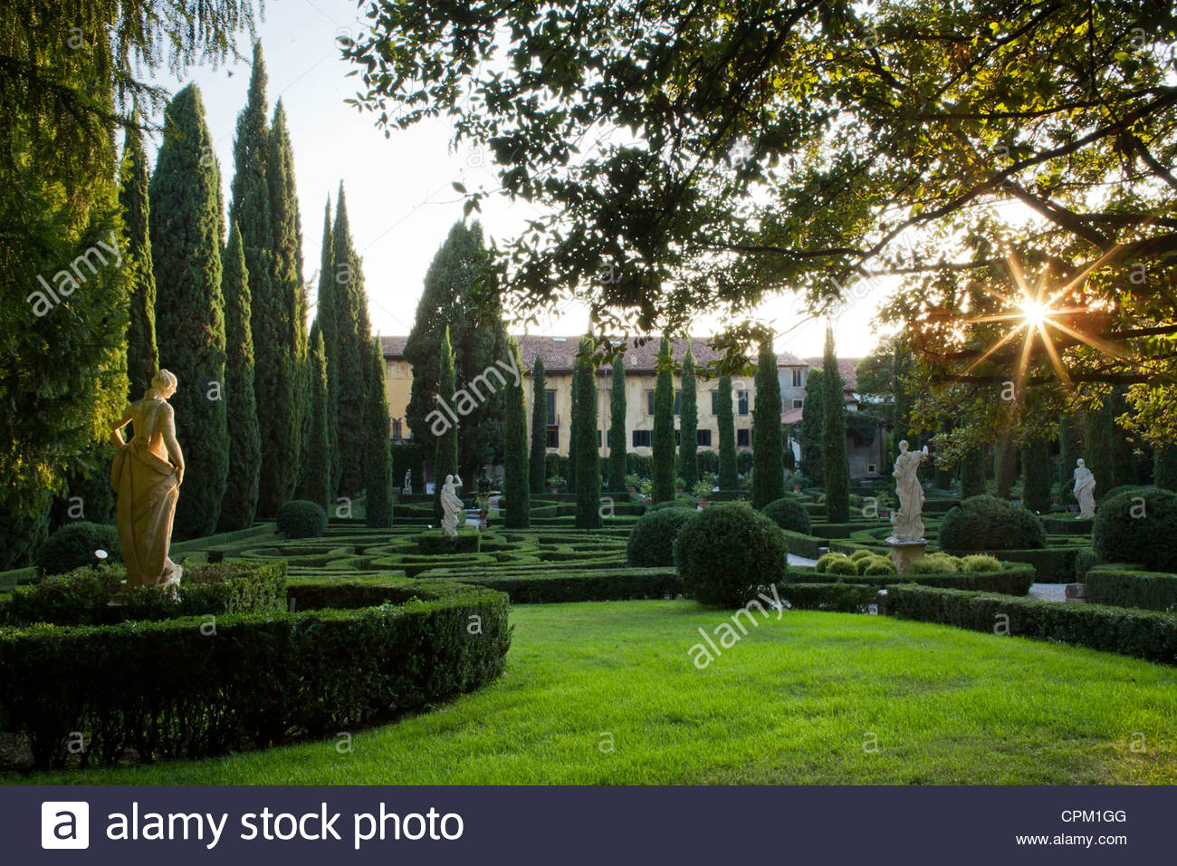 Giardini giusti verona italien stockfoto bild  alamy