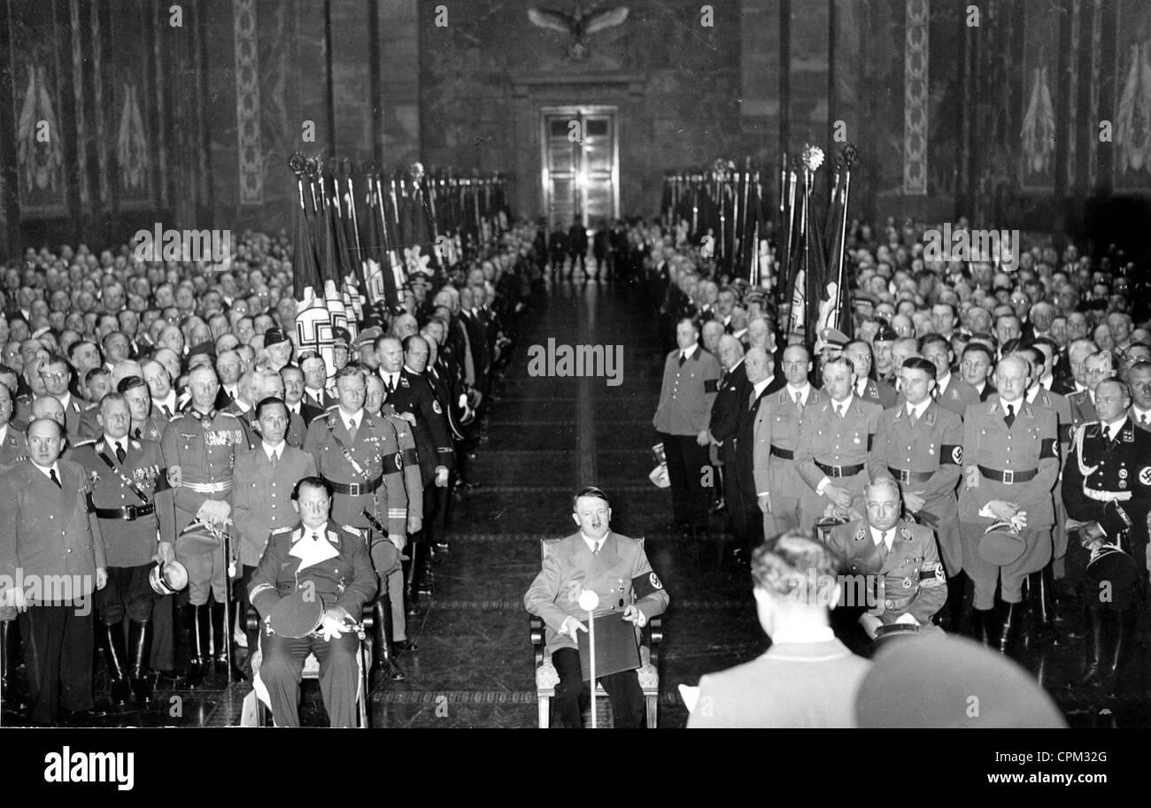 Der 50 Geburtstag Von Adolf Hitler 1939 Stockfoto Bild