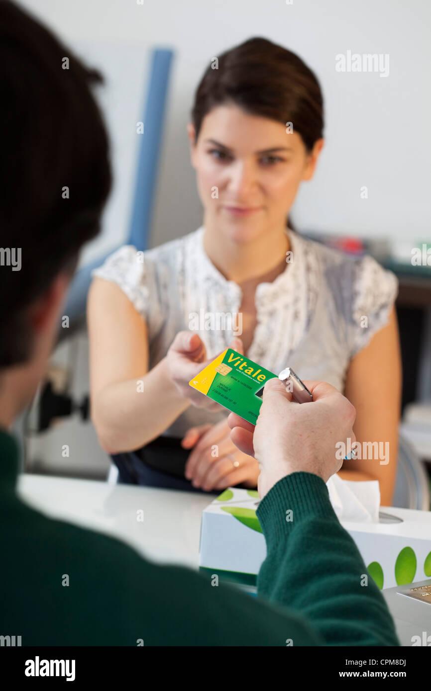NAT ' L GESUNDHEIT SERVICE CARD Stockbild