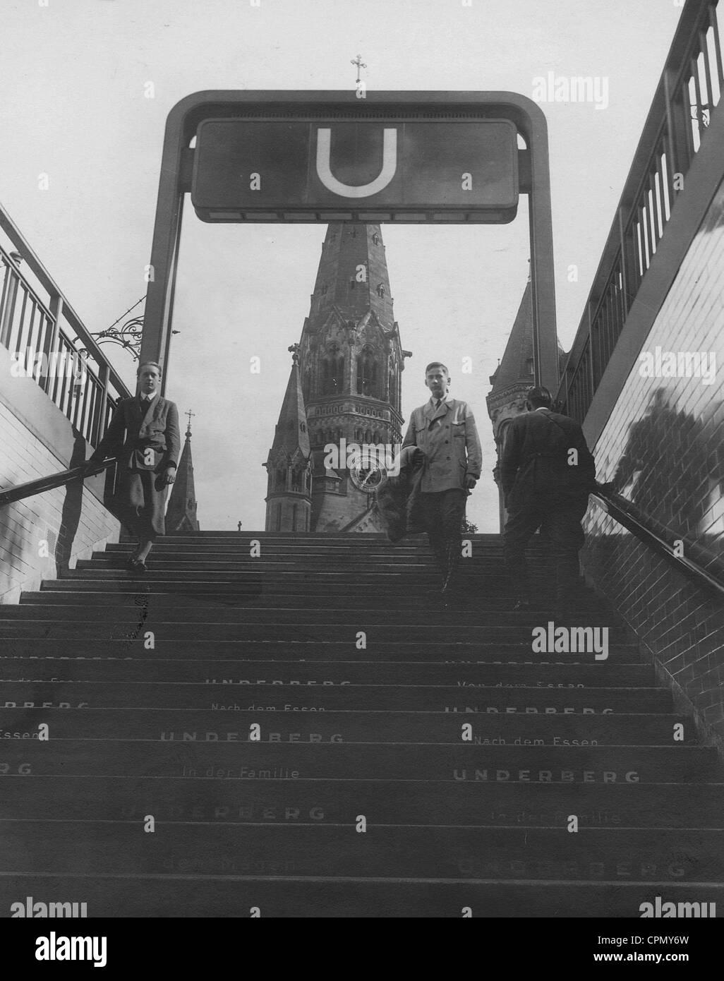 U Bahn U Bahn Eintritt Zoo In Berlin 1931 Stockfoto Bild