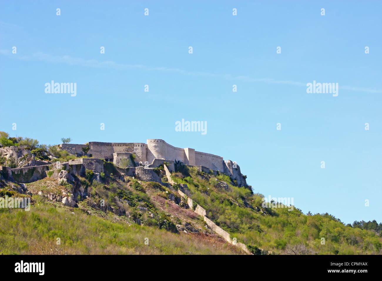 Festung von Knin, zweitgrößte militärische Festung Europas, Stadt Knin, Kroatien Stockbild