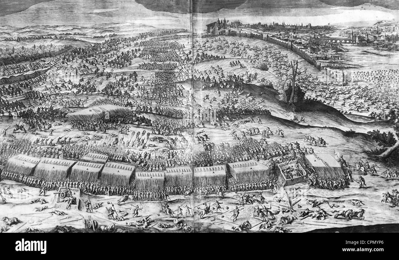 Schlacht am weißen Berg 1620 Stockbild
