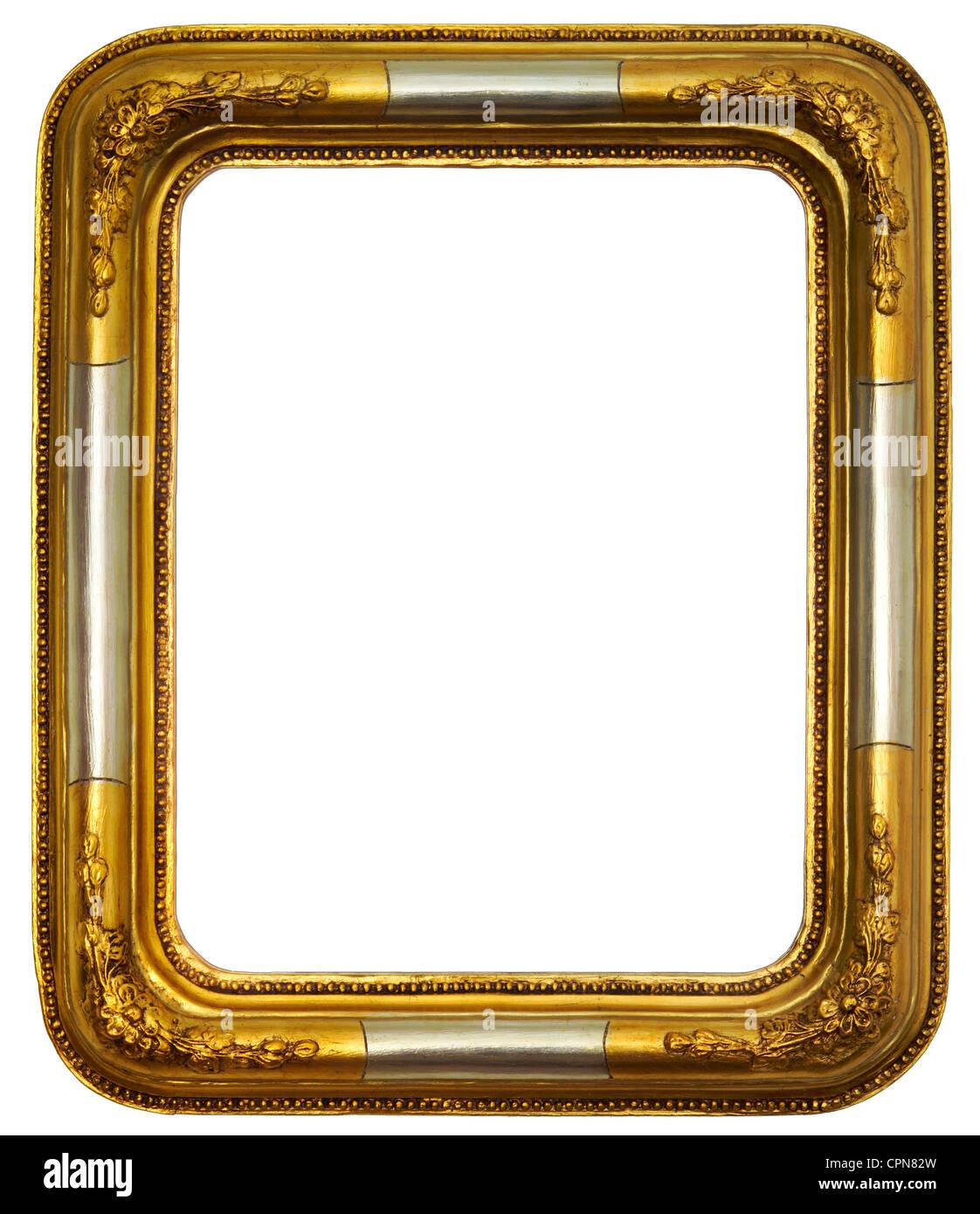 Bildende Kunst, Bilderrahmen, goldenen Bilderrahmen, Biedermeier ...