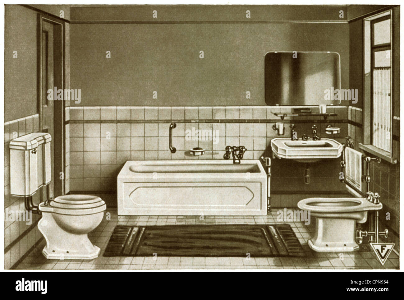 Mobel Badezimmer Komplett Eingerichtet In Einer Probe Ausstellung