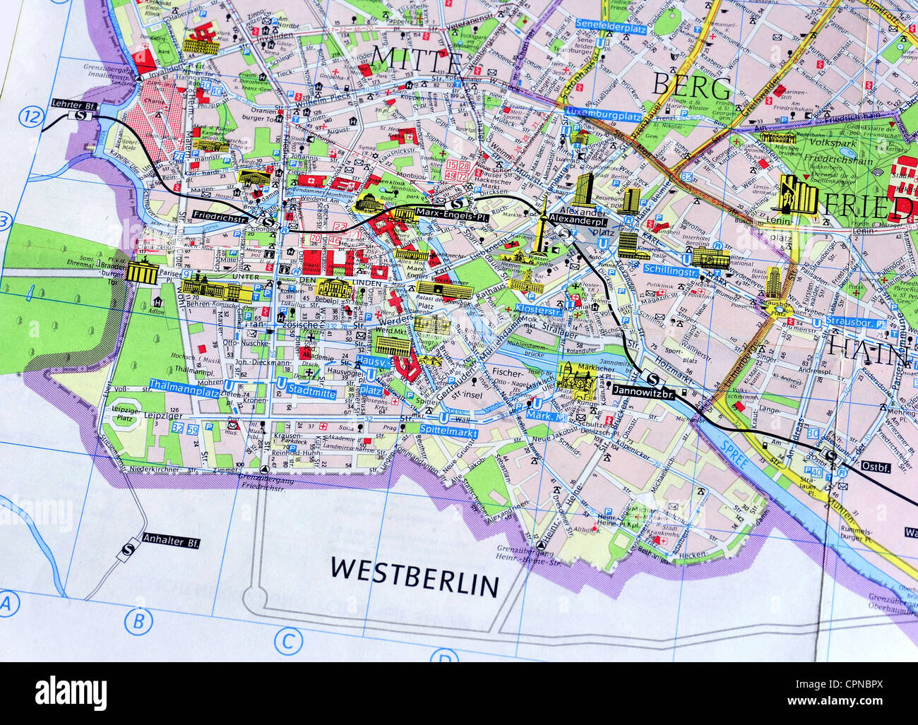 West Ost Berlin Karte.Berlin Karte Stockfotos Berlin Karte Bilder Alamy