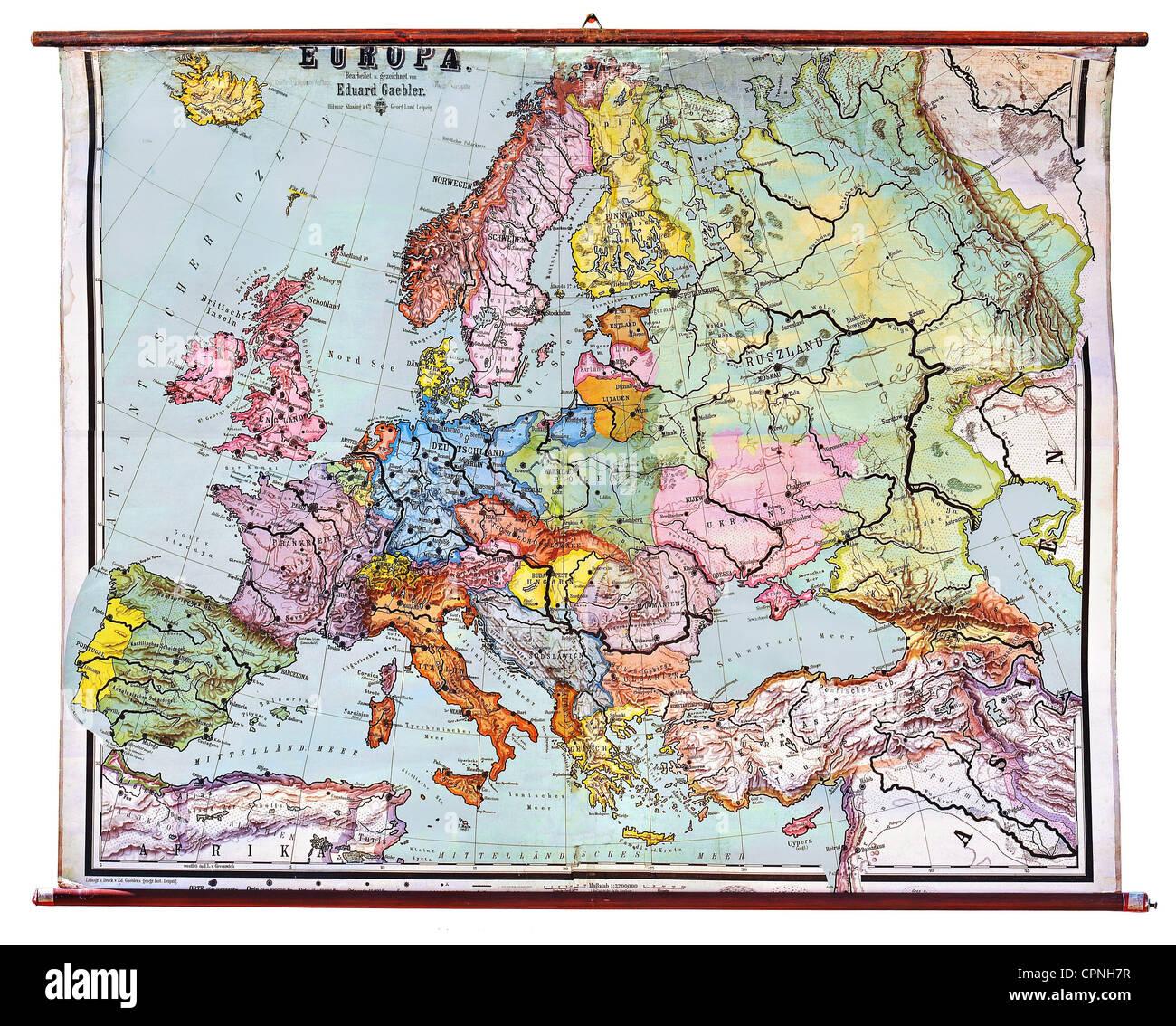 Kartographie Historische Karte Euroboard Europa Nach Dem Ersten