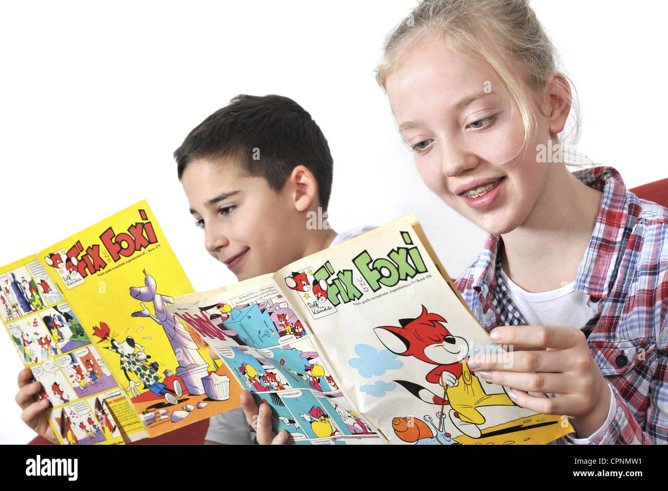 menschen kinder fix und foxi magazine lesen von rolf kauka zeitschriften aus dem deutschland. Black Bedroom Furniture Sets. Home Design Ideas