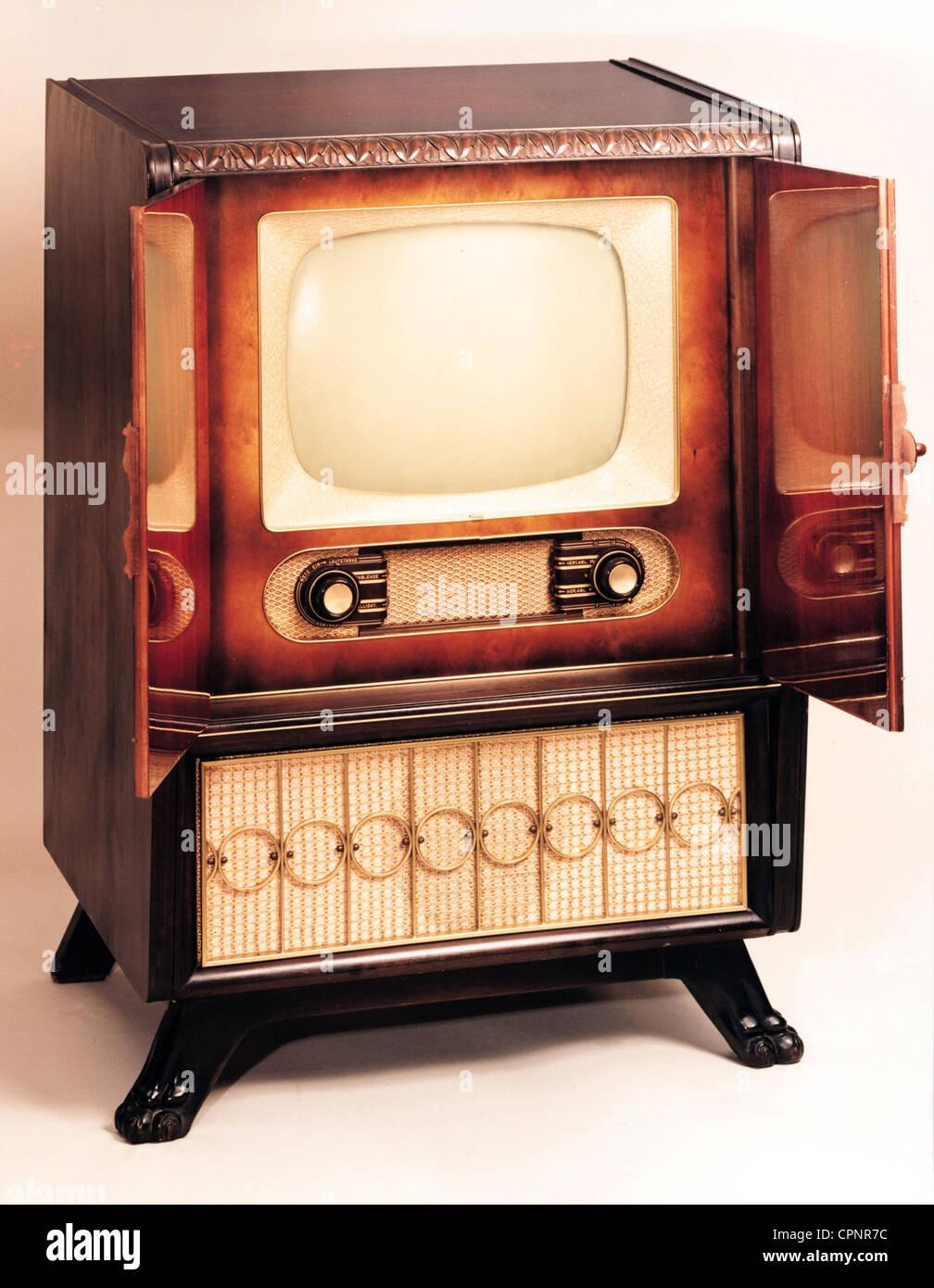 Rundfunk Fernsehen Fernsehen Konsole Schaub Weltspiegel 17 Der