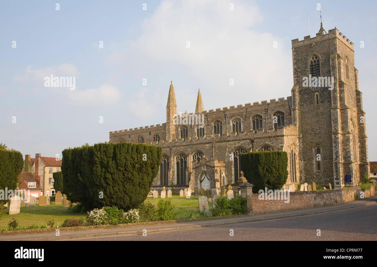 Pfarrkirche St. Peter und St. Paul, Clare, Suffolk, England Stockbild
