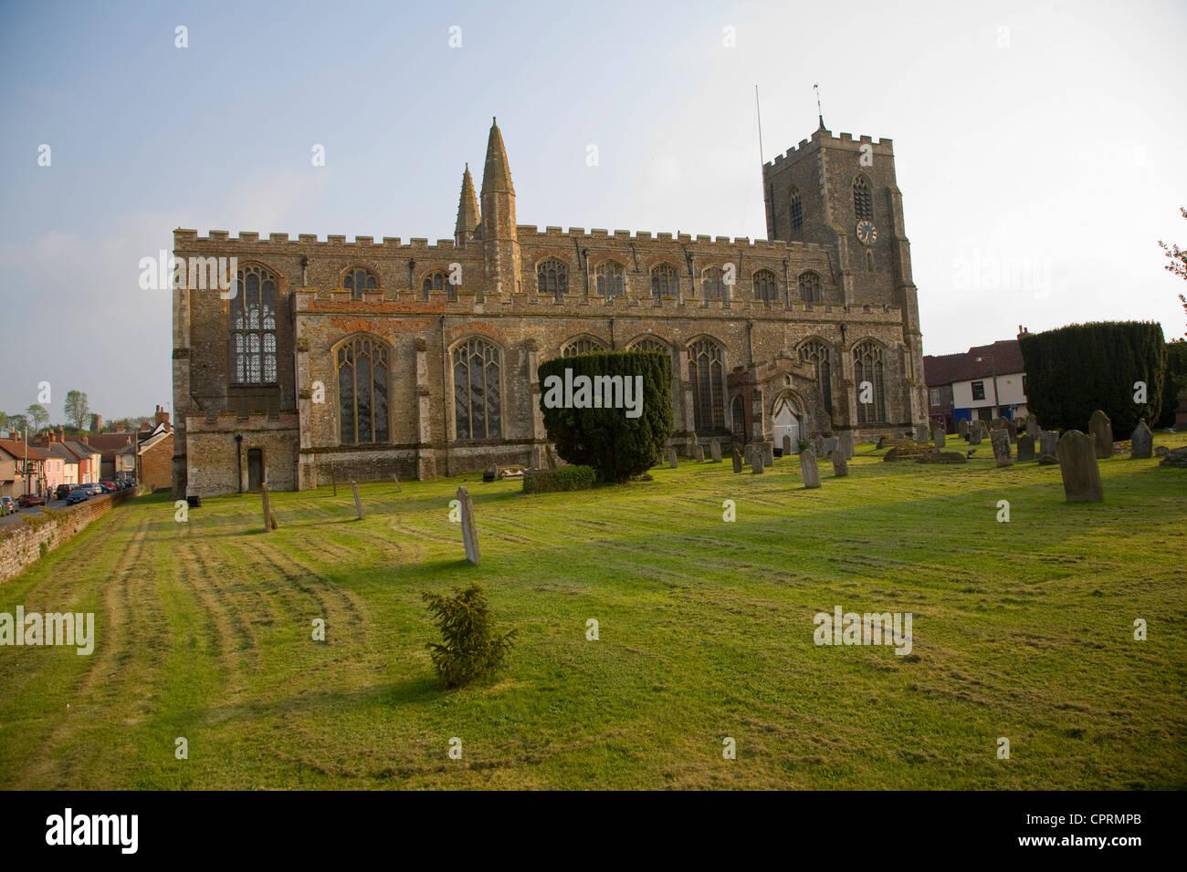 St. Peter und Paul Kirche, Clare, Suffolk, England Stockbild