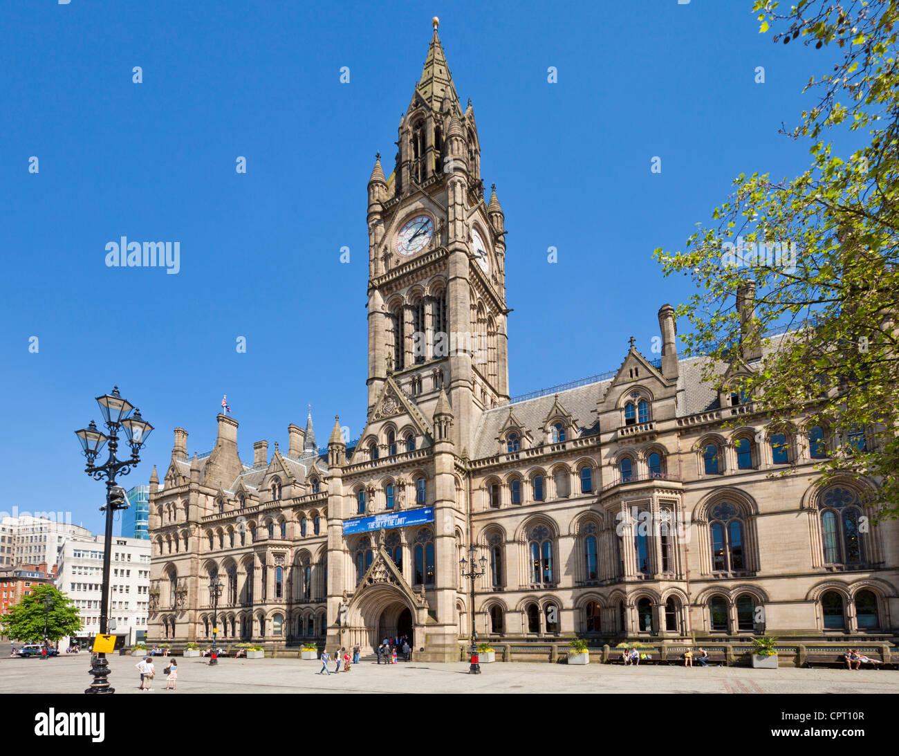Rathaus von Manchester Albert Square Stadtzentrum von Manchester Manchester England UK GB EU Großeuropa Stockbild