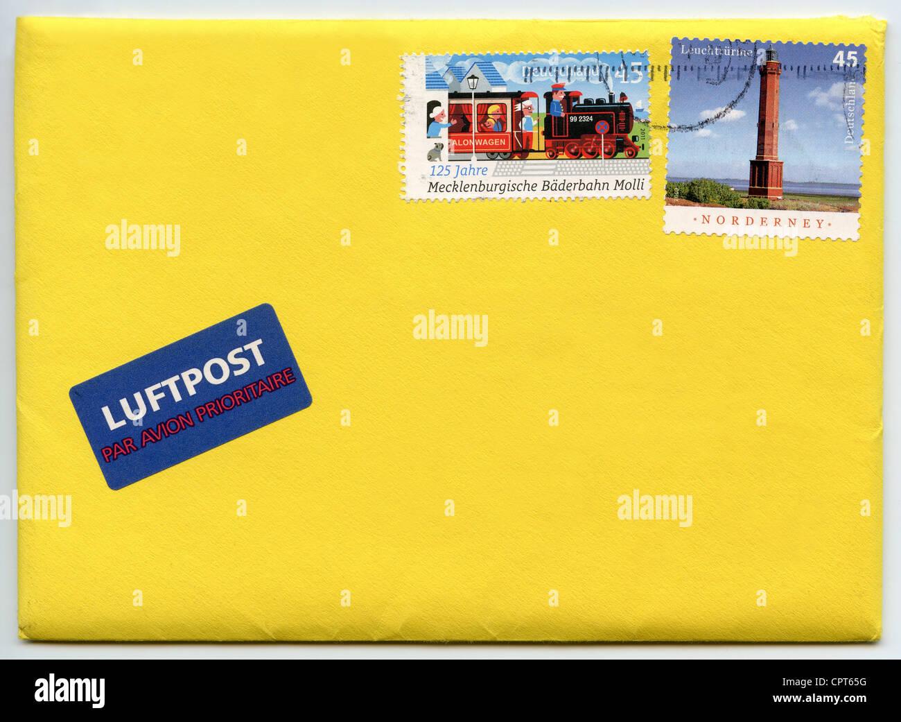 Deutschland Porto Auf Brief Stockfoto Bild 48474876 Alamy