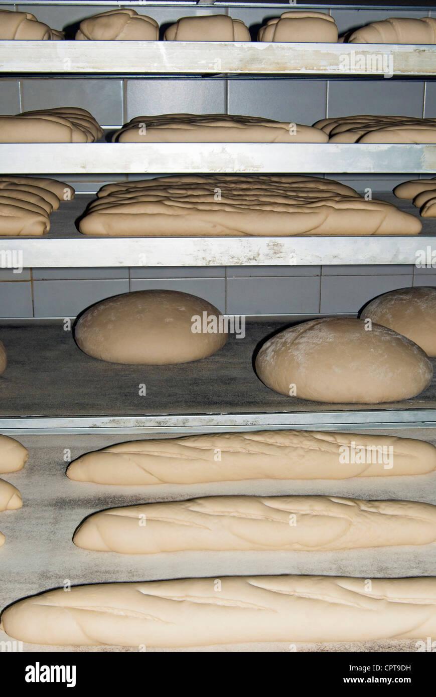 Natürlich gesäuertes Brot, italienische Küche, Italien Stockbild