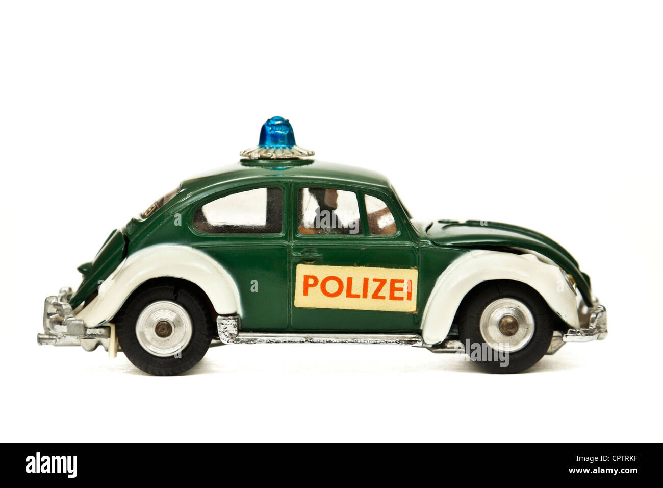 60er vintage corgi toys nr 492 vw k fer polizei europ ischen polizei auto stockfoto bild. Black Bedroom Furniture Sets. Home Design Ideas