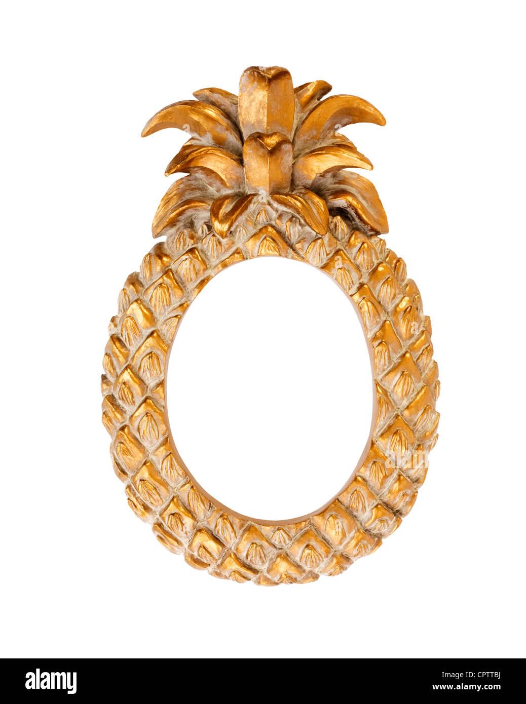 Gold farbige Bilderrahmen in Form einer Ananas. Billige Einfuhren ...