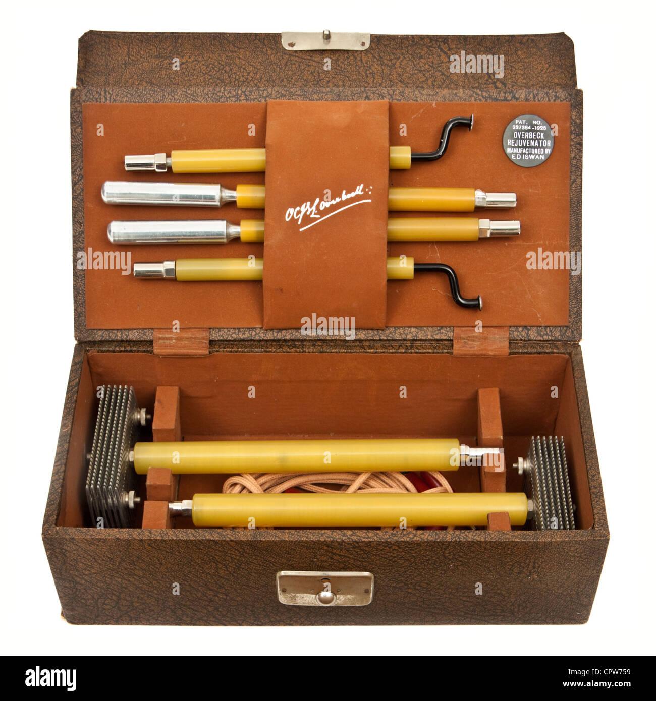 """Seltene 1925 """"Overbeck Kraftspender"""", ein Quack Werkzeug für die Behandlung von Krankheiten mit elektrischem Stockbild"""