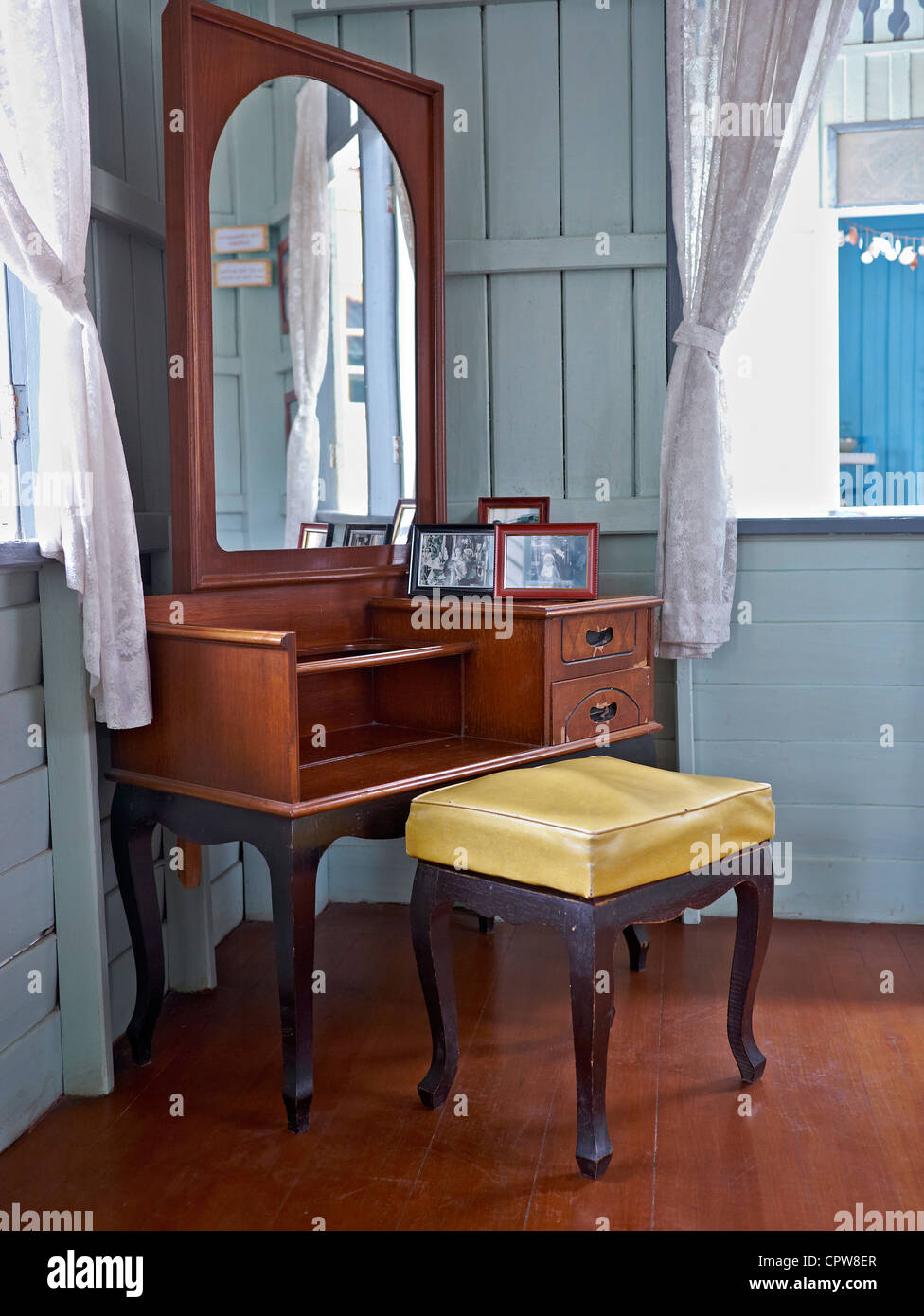 50er Jahre Schlafzimmer Möbel Und Dekor Thailand Asien Stockfoto