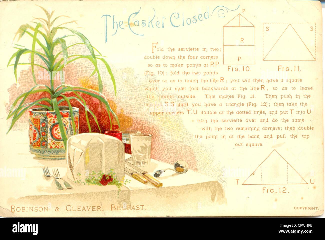 Victorian Dinner Table Stockfotos & Victorian Dinner Table Bilder ...