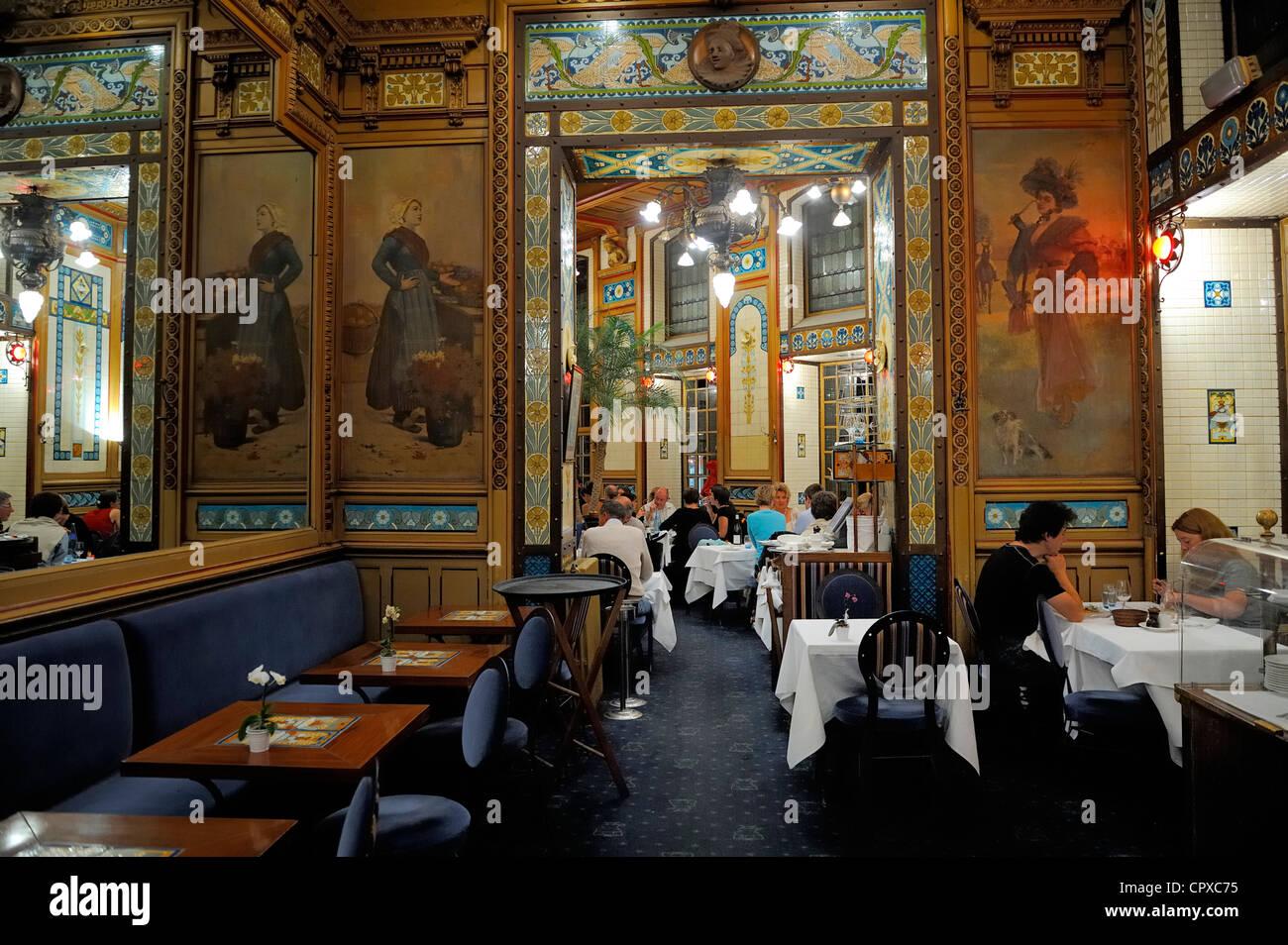 Frankreich, Loire-Atlantique, Nantes, La Cigale Brasserie, Interieur ...
