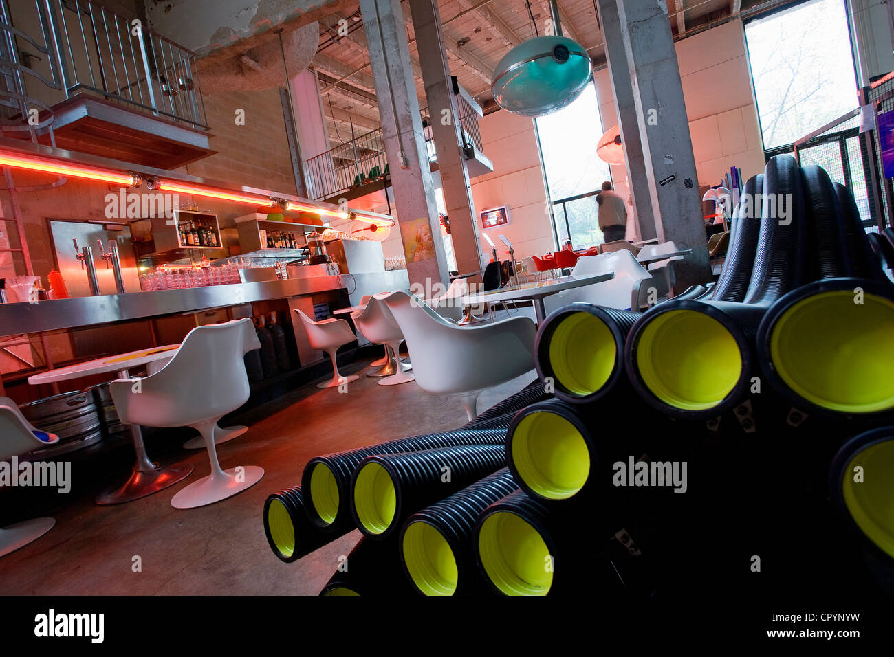 Frankreich, Paris, Palais de Tokyo, Tokyo Eat Restaurant Stockbild