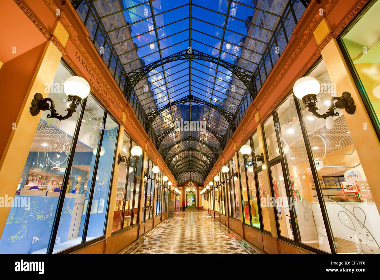 Frankreich, Paris, Grands Boulevards, Passage des Princes, erbaut im Jahre 1860 zwischen Boulevard des saufen und Stockbild