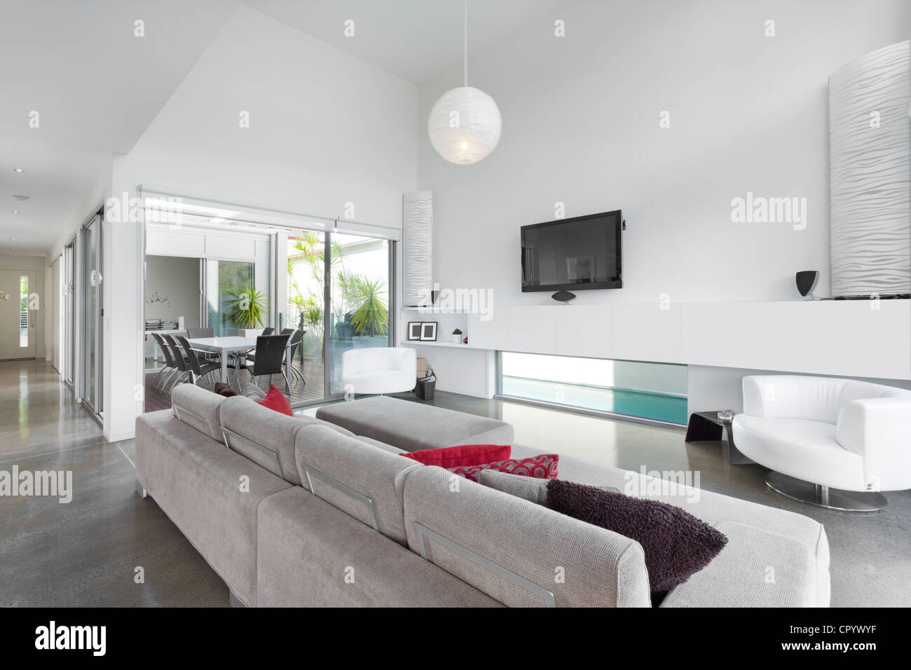 Wunderbar Modernes Wohnzimmer In Australischen Herrenhaus