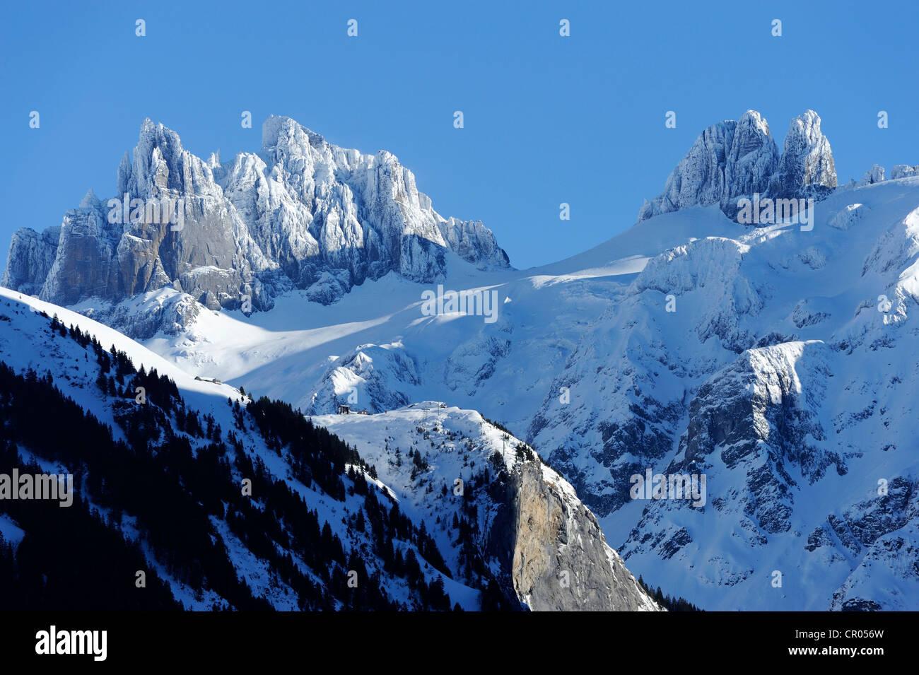 Klein und Gross Spannort Berge, Engelberg, Obwalden, Schweiz, Europa Stockbild