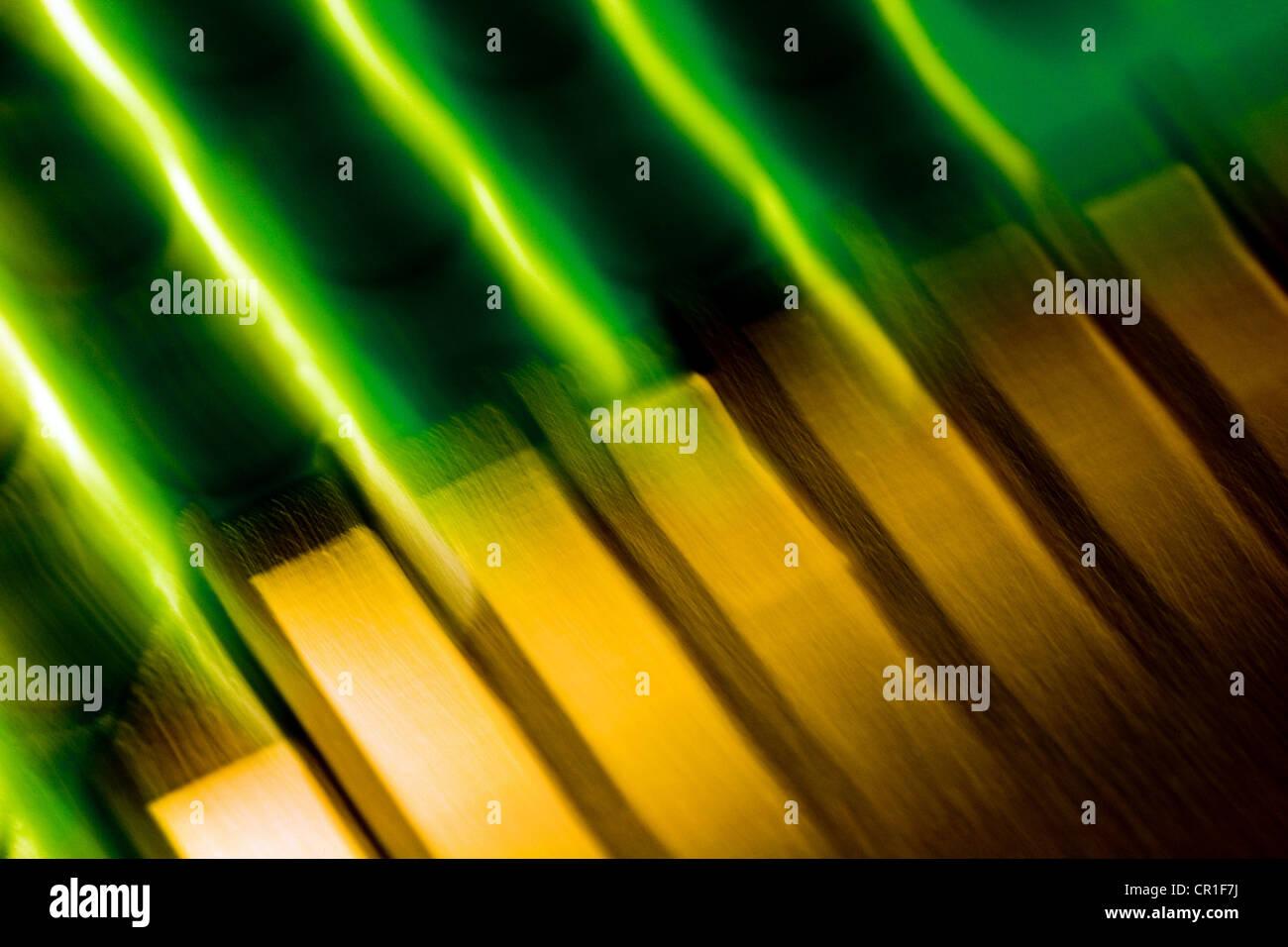 Elektronische Kontakte, abstraktes Bild mit einer hohen Vergrößerung-Makro-Objektiv aufgenommen. Stockbild