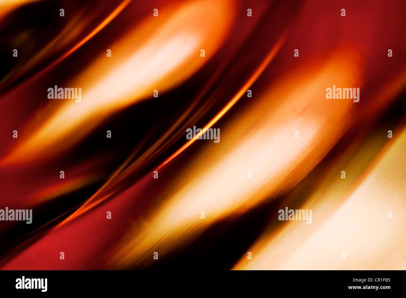 Nahaufnahme des farbigen Glases. Abstraktes Bild mit einer hohen Vergrößerung-Makro-Objektiv aufgenommen. Stockfoto