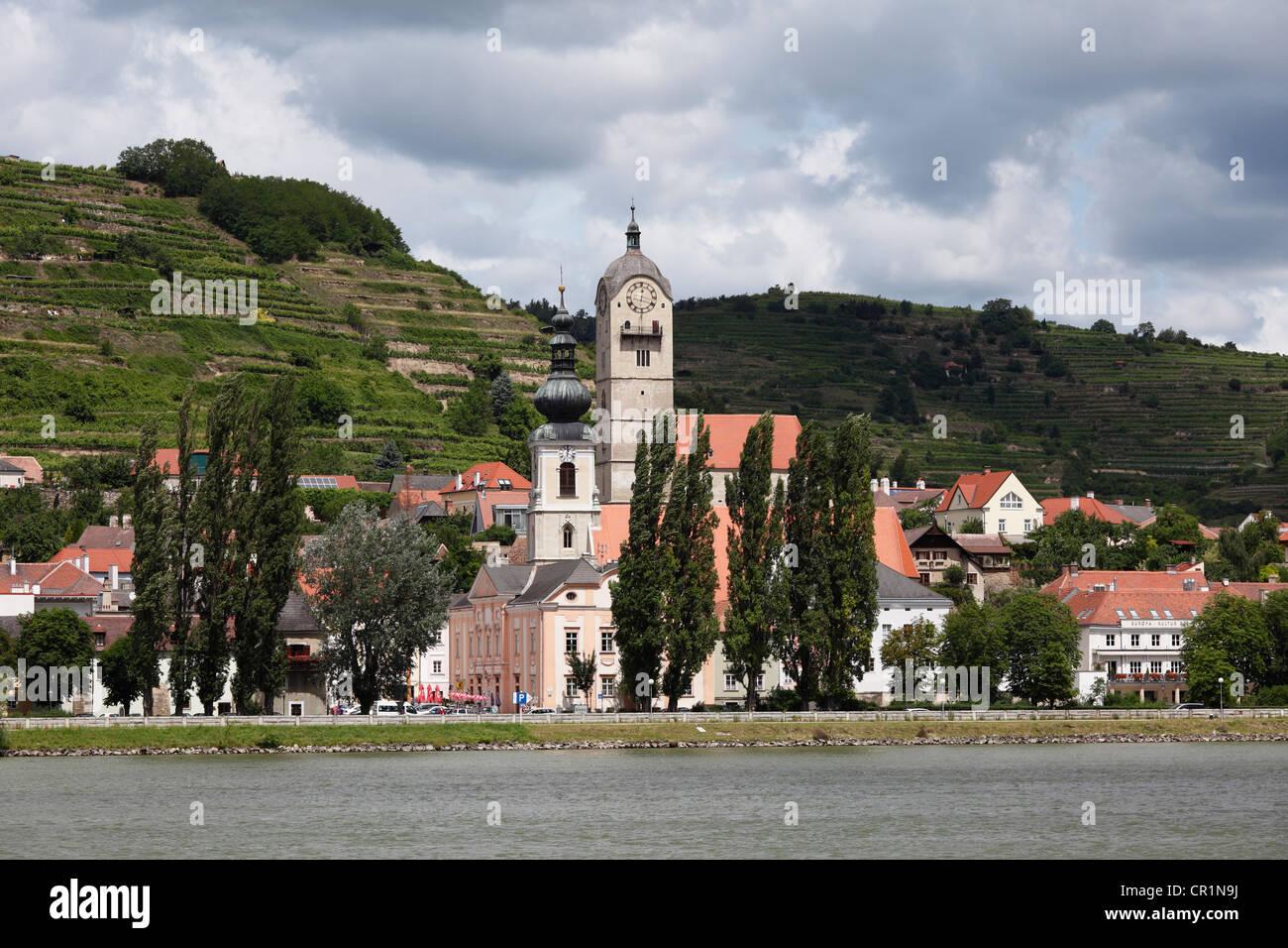 Stein an der Donau, Wachau, Niederösterreich, Österreich Stockbild