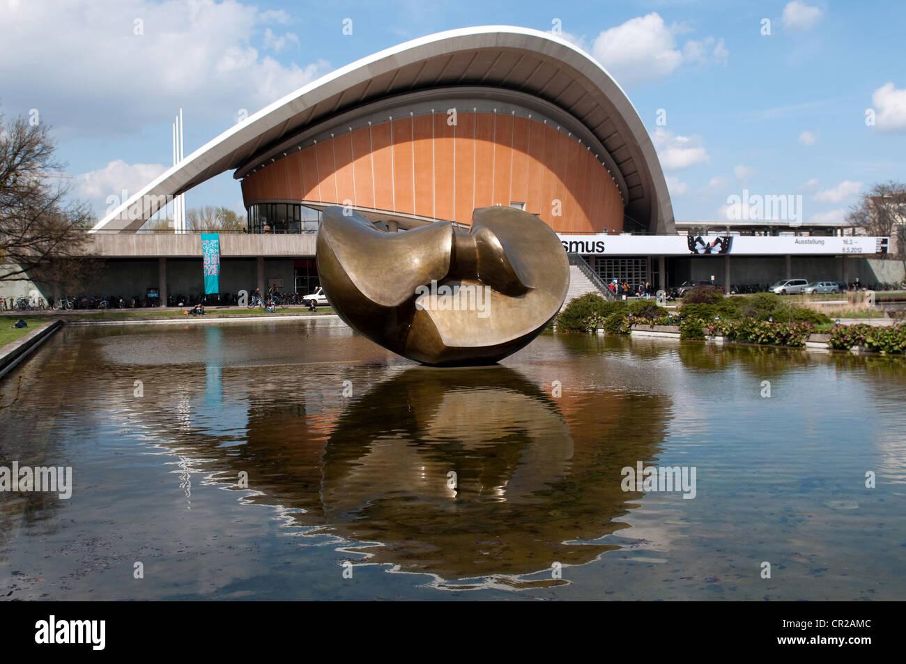 Haus der Kulturen der Welt in Berlin Deutschland Stockbild
