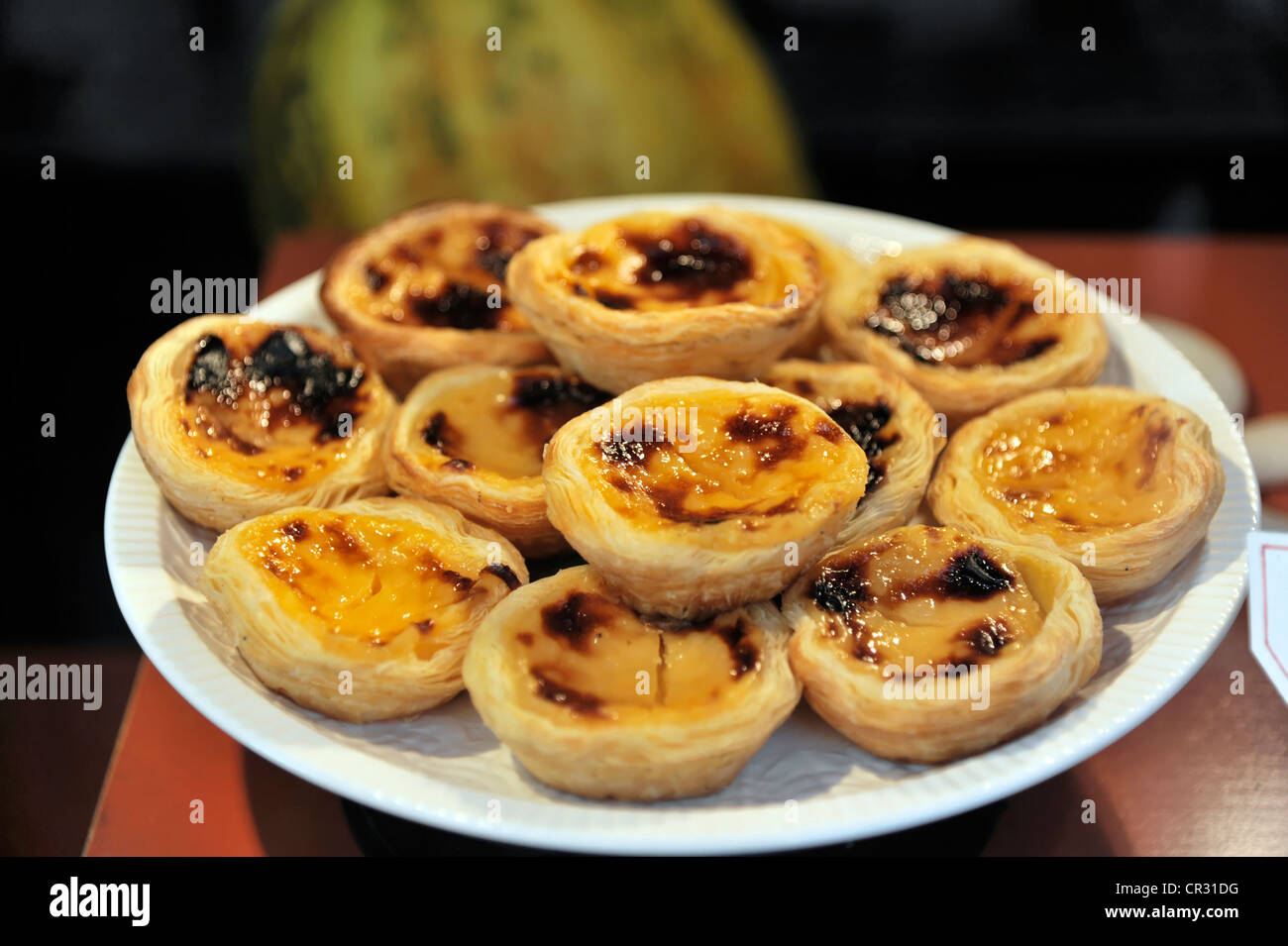 Pasteis De Nata Portugiesische Pudding Kuchen Lissabon Lissabon