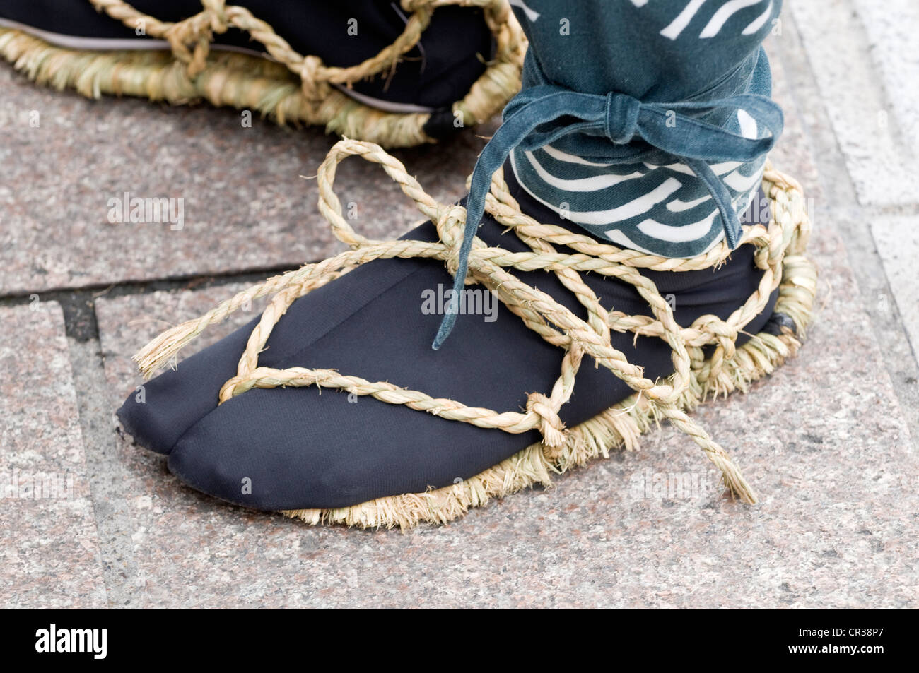 Takayama, Festival oder Sanno Matsuri, Schuhe Detail, Chubu Region, Insel Honshu, Japan Stockbild