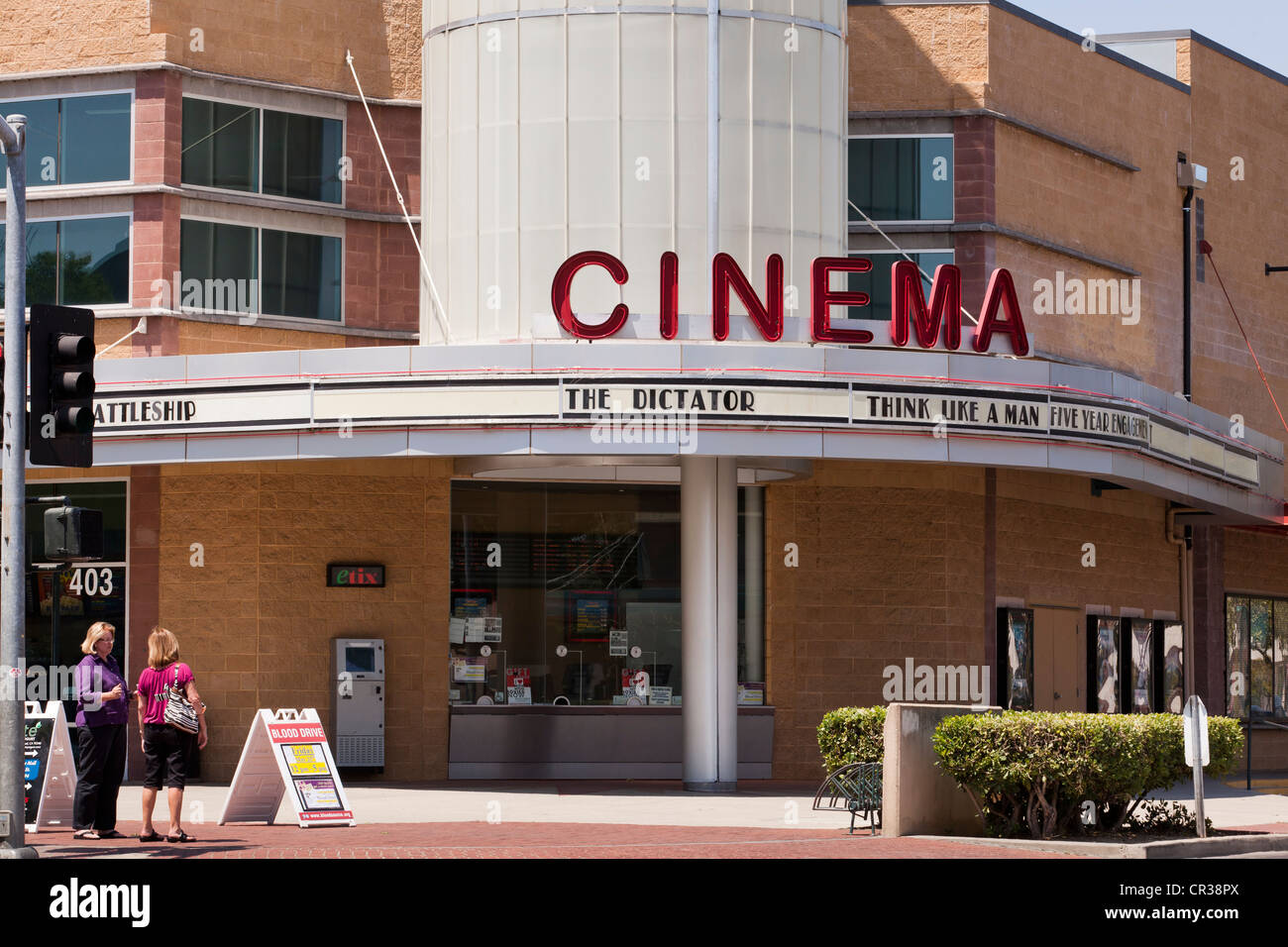 Vintage Film Theater vorne - California UA Stockbild