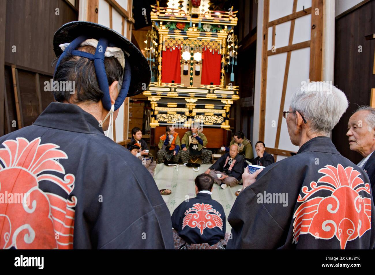 Takayama, Festival oder Sanno Matsuri, Parade der geschmückten Wagen, Chubu Region, Insel Honshu, Japan Stockbild