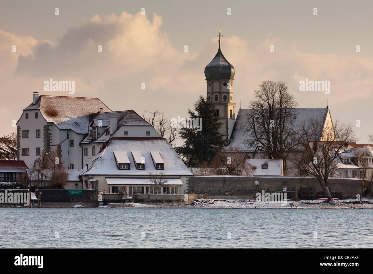 Wasserburg Am Bodensee Im Winter Landkreis Lindau Bayern