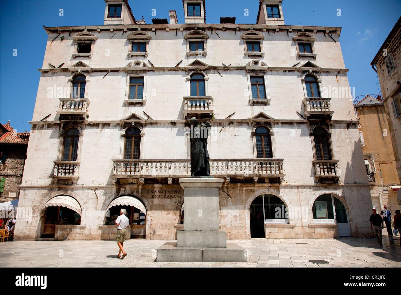 Kroatien, Dalmatien, Dalmatien, Split, alte römische Stadt UNESCO-Welterbe, Milesi Palast Stockbild