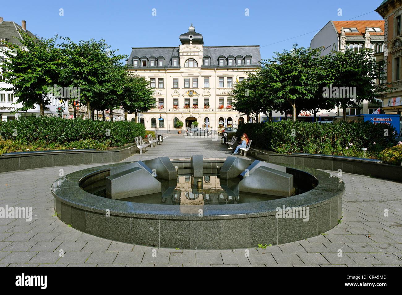 Hotel Blauer Engel, im 17. Jahrhundert gegründet, Altmarkt Square, Aue, Sachsen, Deutschland, Europa Stockbild